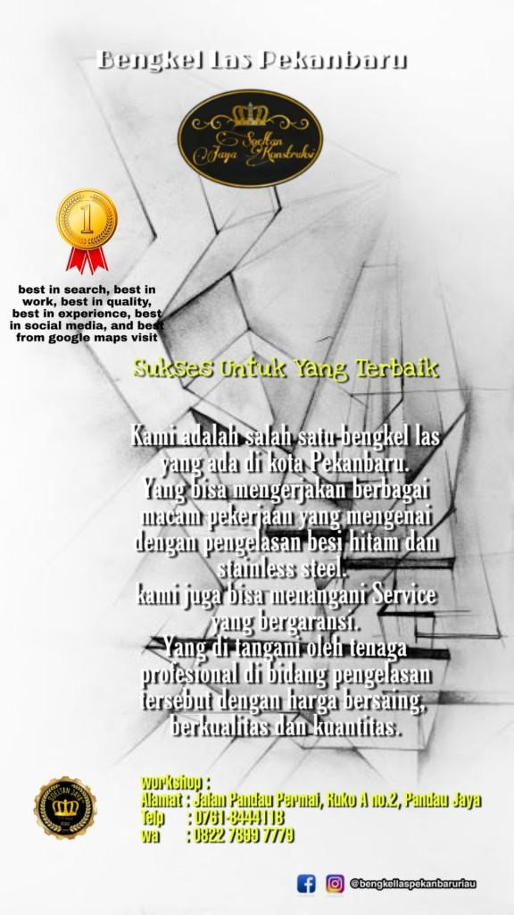Pagar Minimalis Bengkel Las Pekanbaru Riau